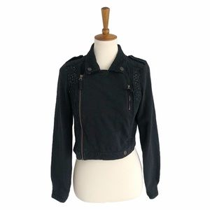 Free People Lace Motto Jacket Size Small